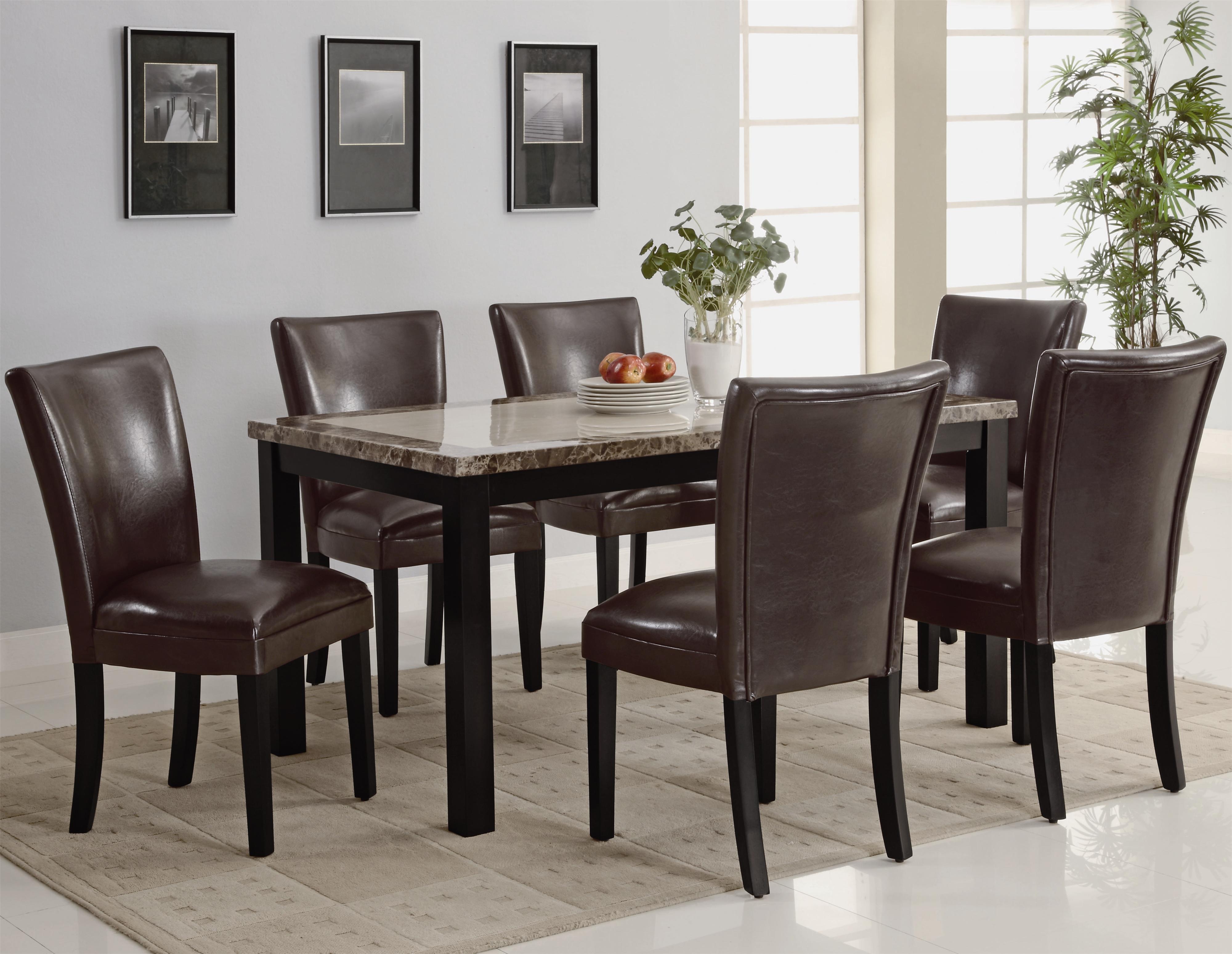 Coaster Carter 7 Piece Dining Table Set - Item Number: 102260+6x3