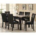 Coaster Carter Rectangular Leg Dining Table