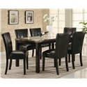 Coaster Carter Upholstered Dining Side Chair - Shown with Coordinating Dining Table