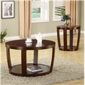 Coaster Cedar Crest Coffee Table - Shown with End Table