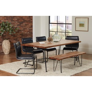 Coaster Chambler Table Set with Dining Bench