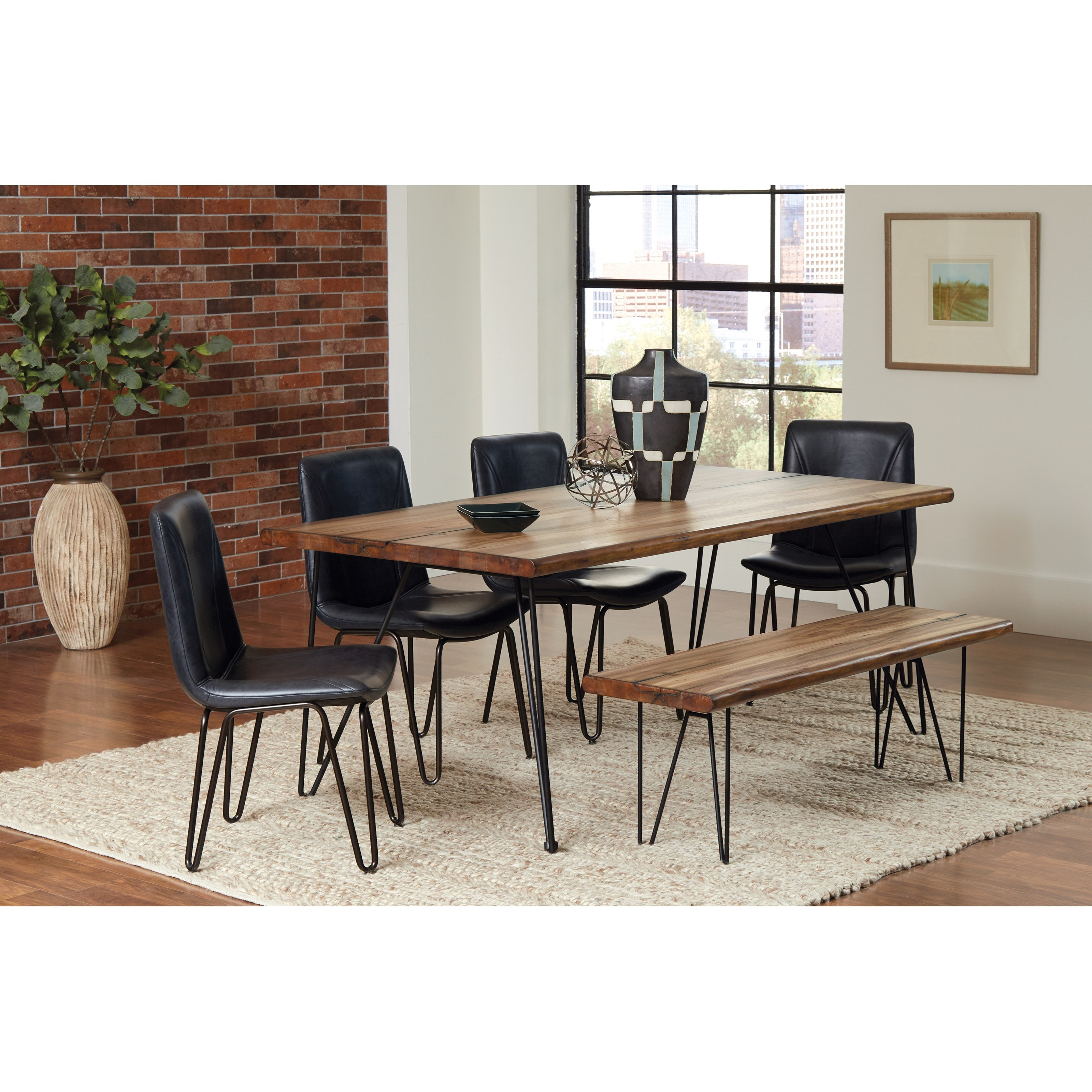 Coaster Chambler Vintage Dining Set With Bench Value City Furniture Table Chair Set With Bench