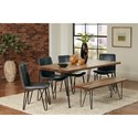 Coaster Chambler Dining Chair with Leatherette Seat and Hairpin Legs
