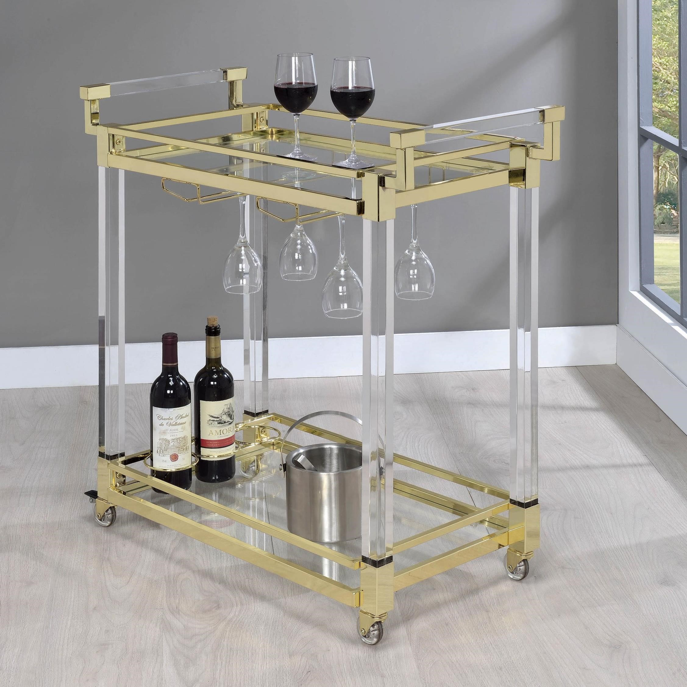Chanel Serving Cart by Coaster at Northeast Factory Direct