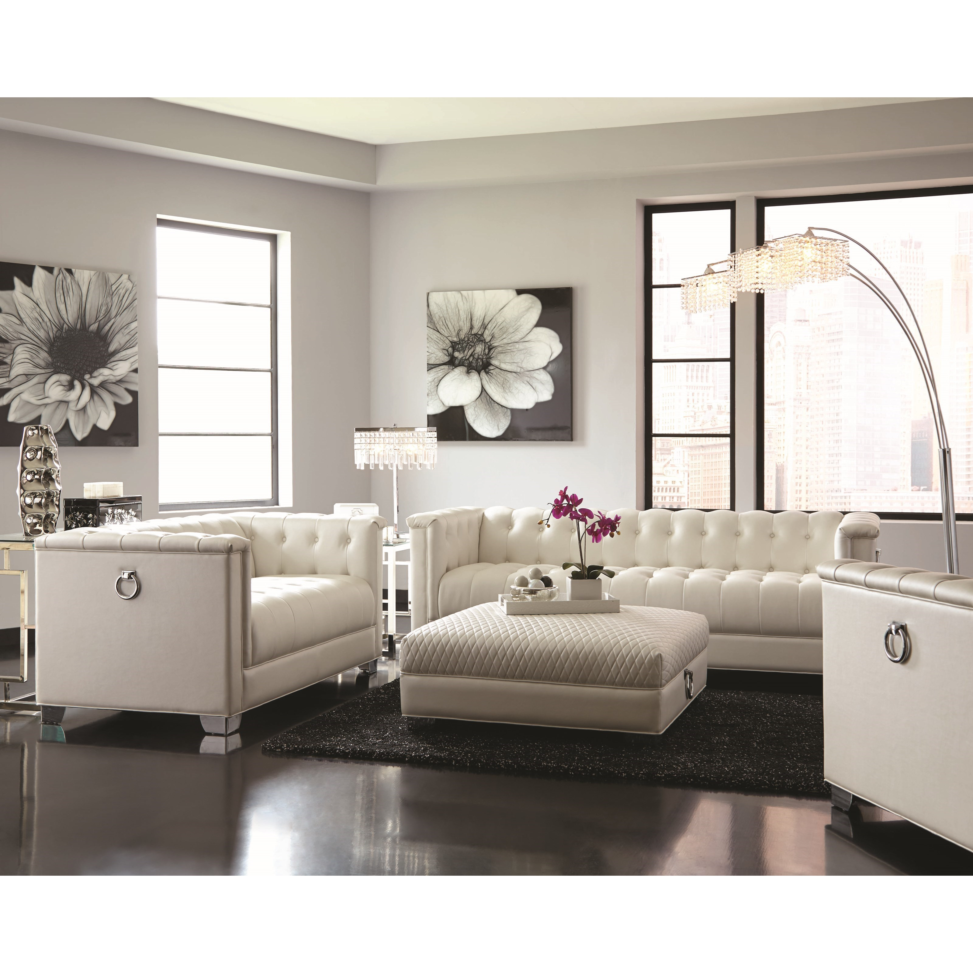 Coaster Chaviano Living Room Group - Item Number: 505390 Living Room Group 1