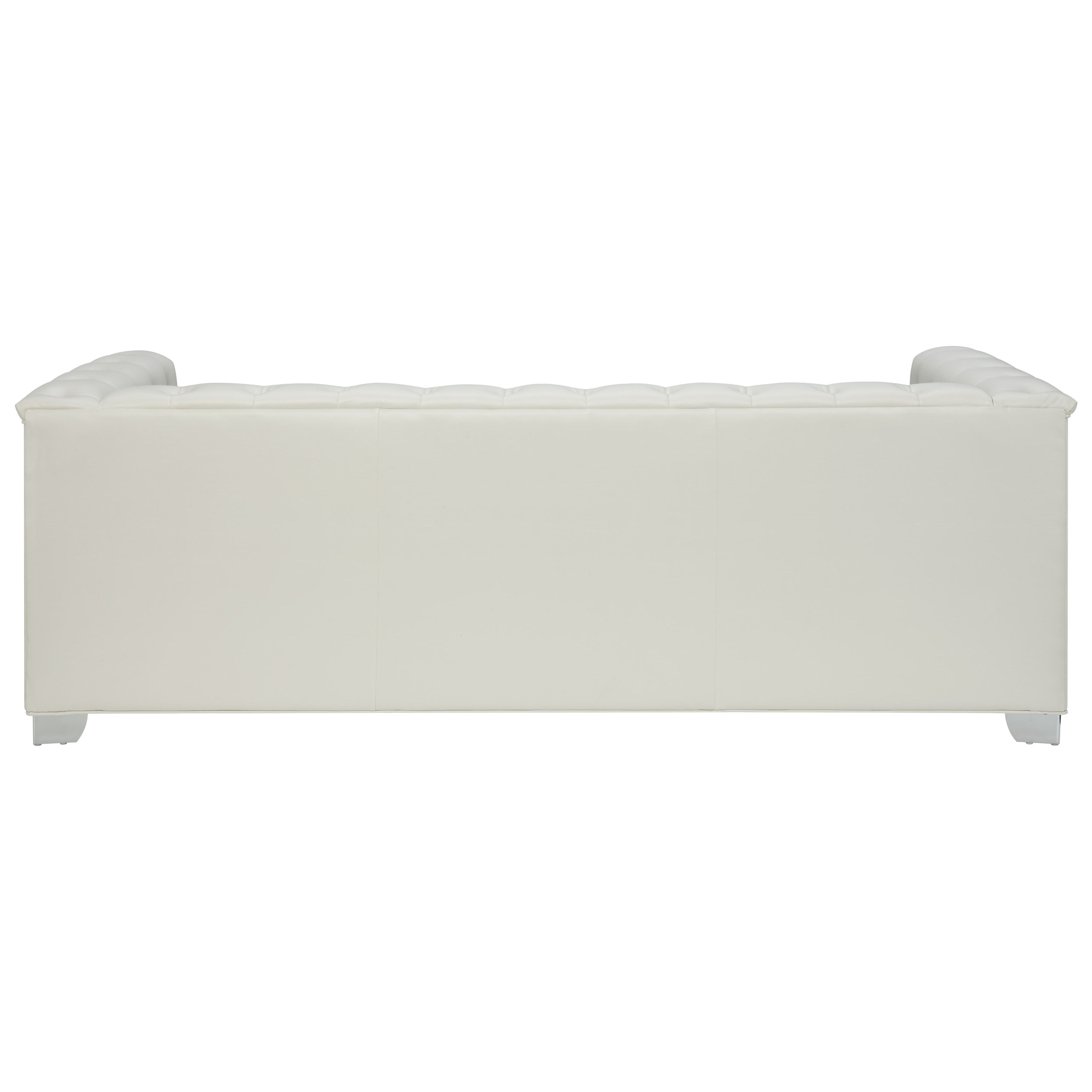 Chaviano Sofa In White Leatherette 505391 By Coaster W Options: Coaster Chaviano Low Profile Pearl White Tufted Sofa