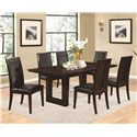 Coaster Chester 7 Piece Table and Chairs Set - Item Number: 105721+6x3