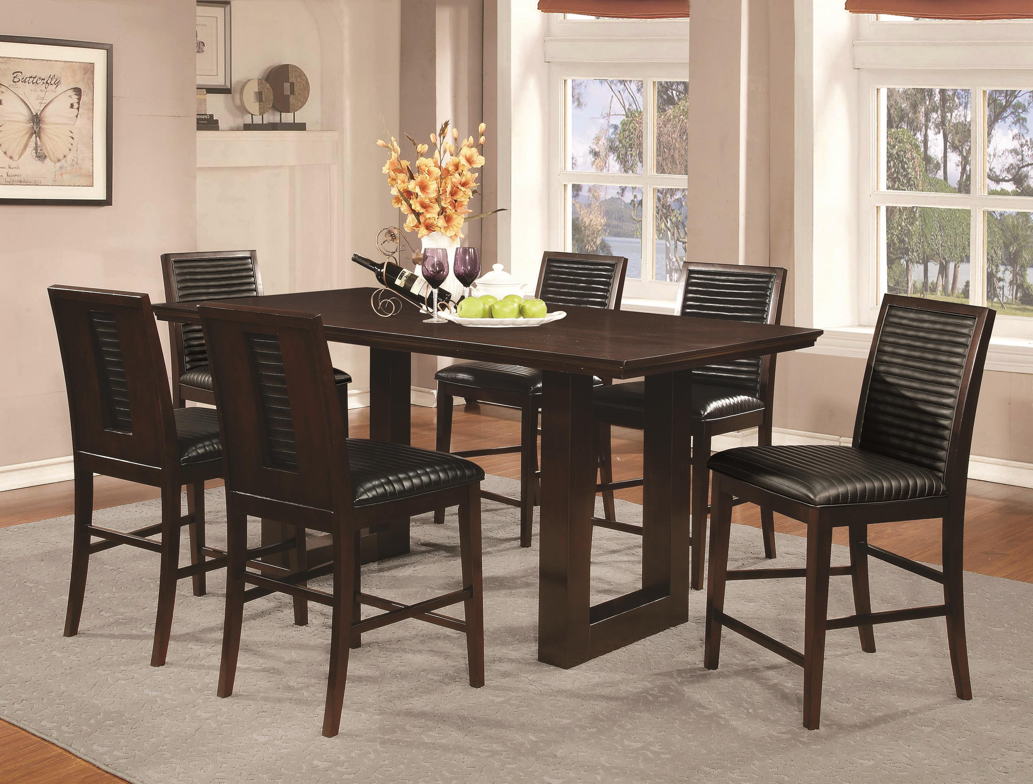Coaster Chester 7 Piece Counter Height Table and Chairs Set - Item Number: 105728+6x7