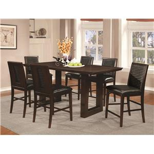 Coaster Chester 7 Piece Counter Height Table and Chairs Set