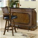 Coaster Clarendon Traditional Bar Stool with Leather Seat - 100174 - Shown with Bar Unit