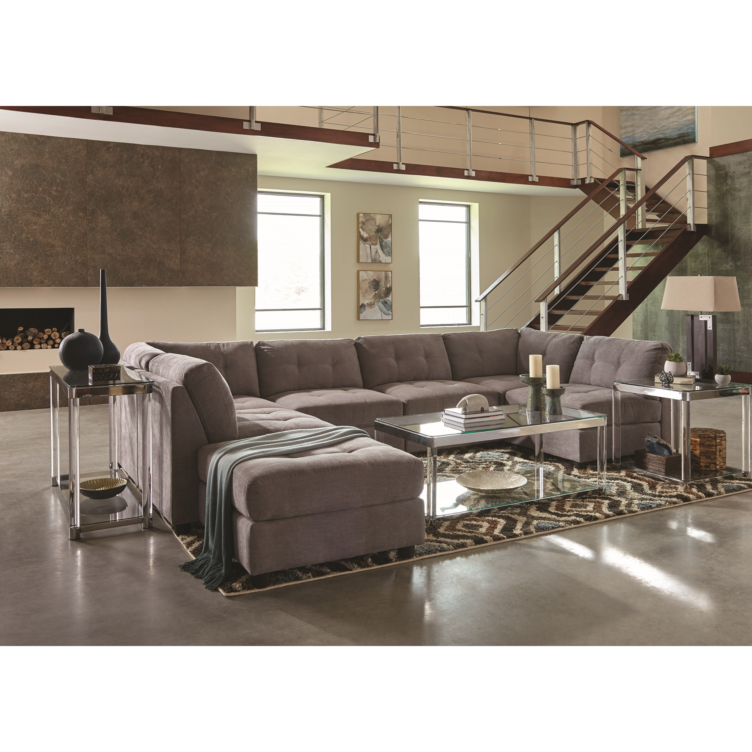 Coaster Claude Stationary Living Room Group - Item Number: 551000 Living Room Group 2