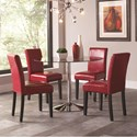 Coaster Clemente 5 Piece Round Table & Chair Set - Item Number: 10300+4x101786