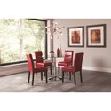 Coaster Clemente Pedestal Dining Table with Glass Table