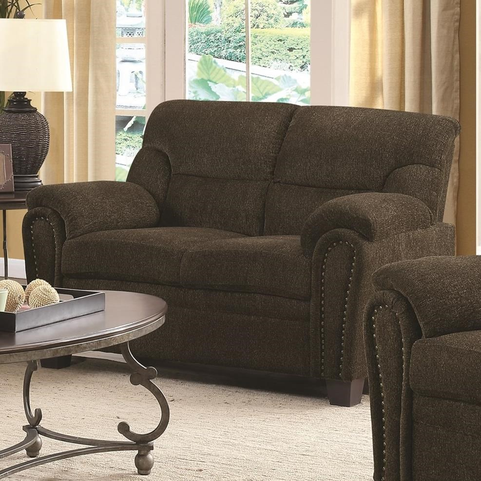 Clemintine by Coaster Loveseat by Coaster at Standard Furniture