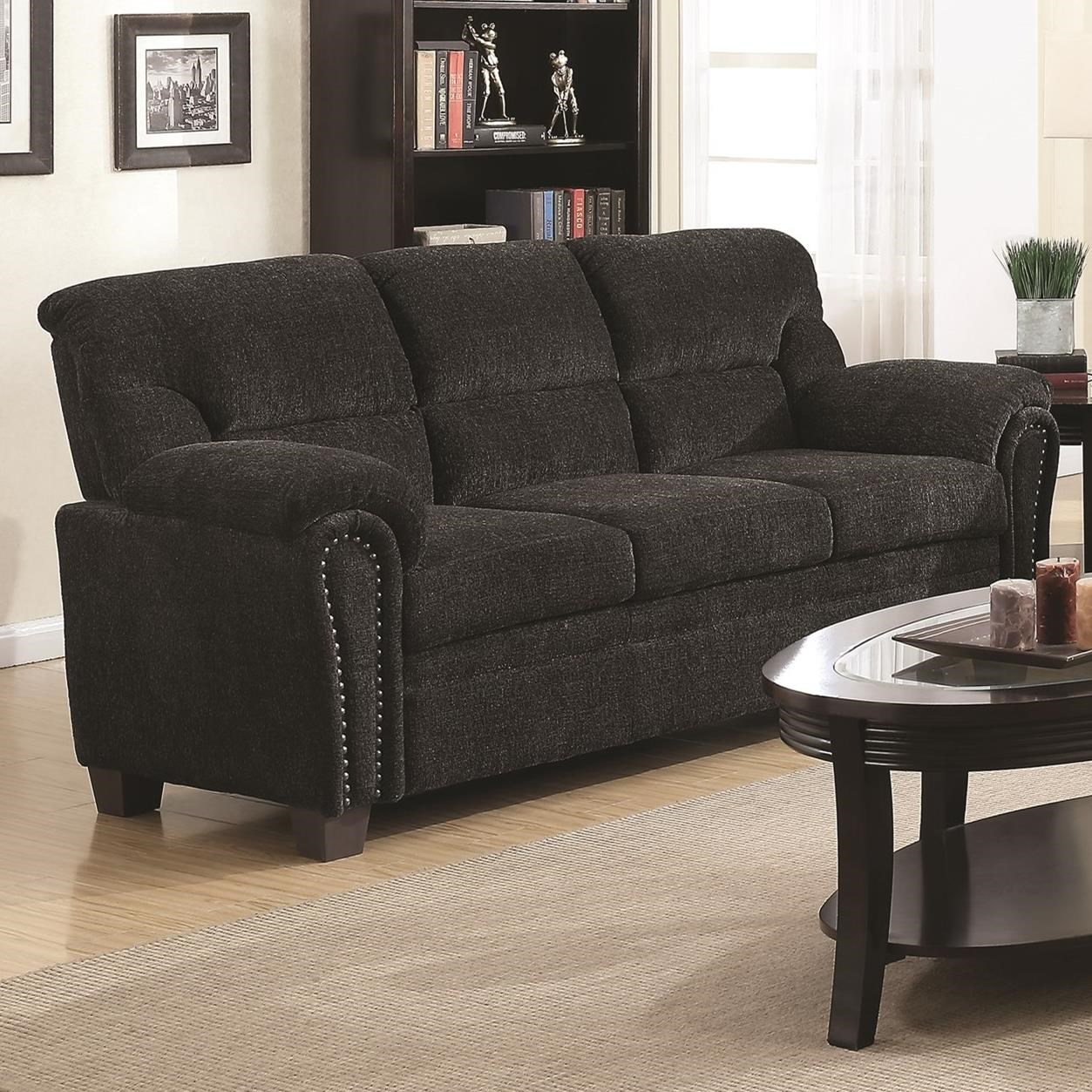 Coaster Clemintine By Coaster Casual Padded Sofa With Nail