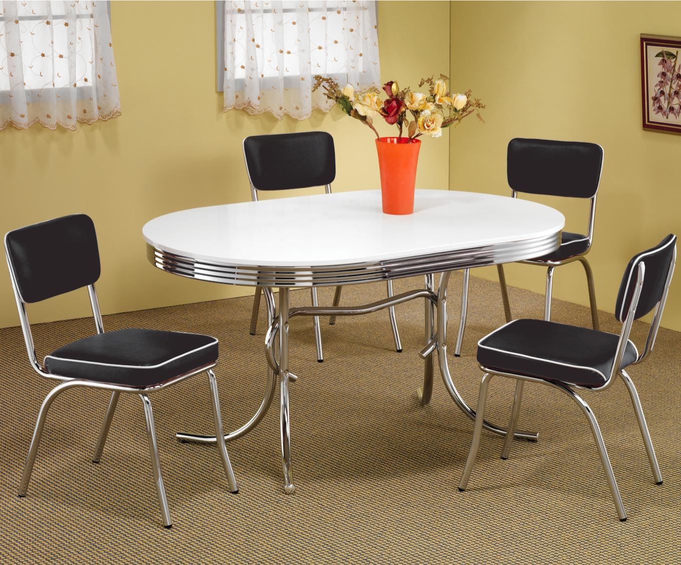 Coaster Cleveland 5 Piece Dining Set - Item Number: 2065+4x6