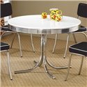 Coaster Cleveland Round Chrome Plated Dining Table - 2388
