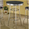 Coaster Cleveland 50's Soda Fountain Bar Table with Black Top - 2405