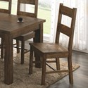 Coaster Coleman Wooden Dining Chair with Rustic Finish