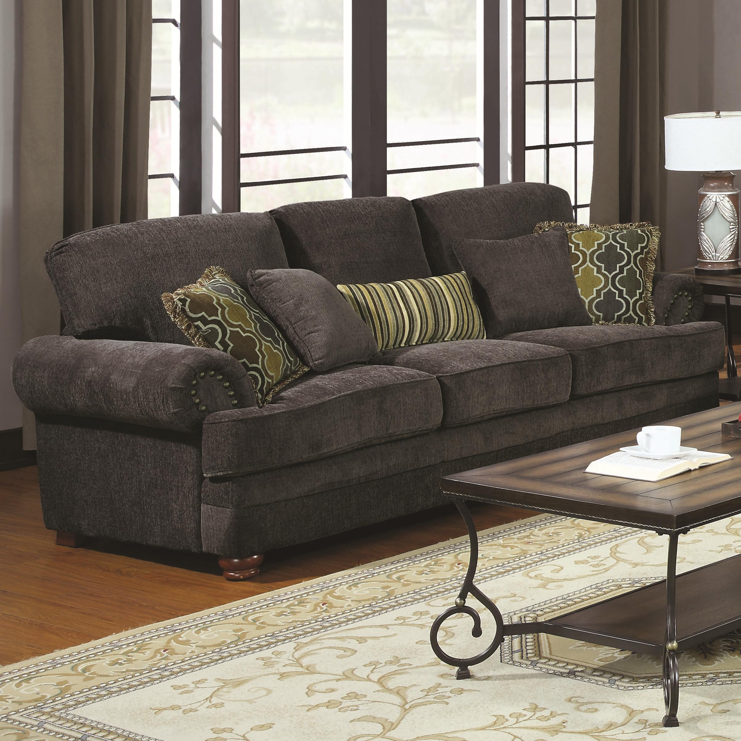 Coaster Colton Traditional Sofa With Elegant Design Style Furniture Superstore Rochester Mn