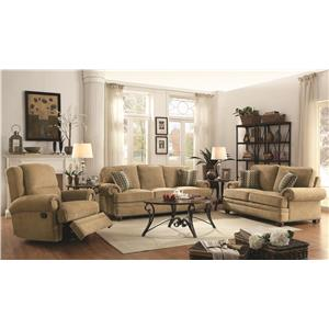 Coaster Colton Stationary Living Room Group