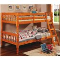 Coaster Corinth Twin Bunk Bed - Item Number: 5040