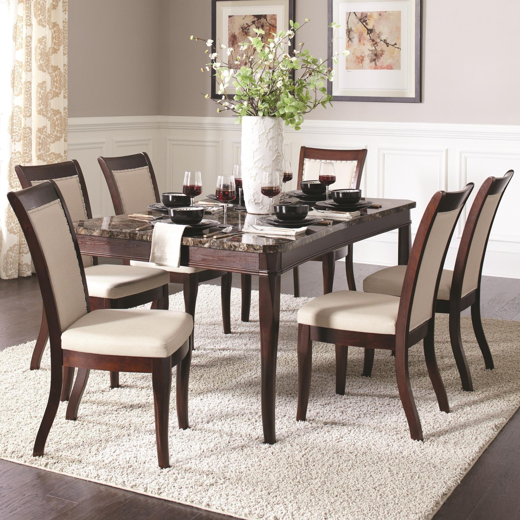 Coaster Carone Contemporary Glam Dining Room Set With: Fine Furniture Cornett 7 Piece Dining Set