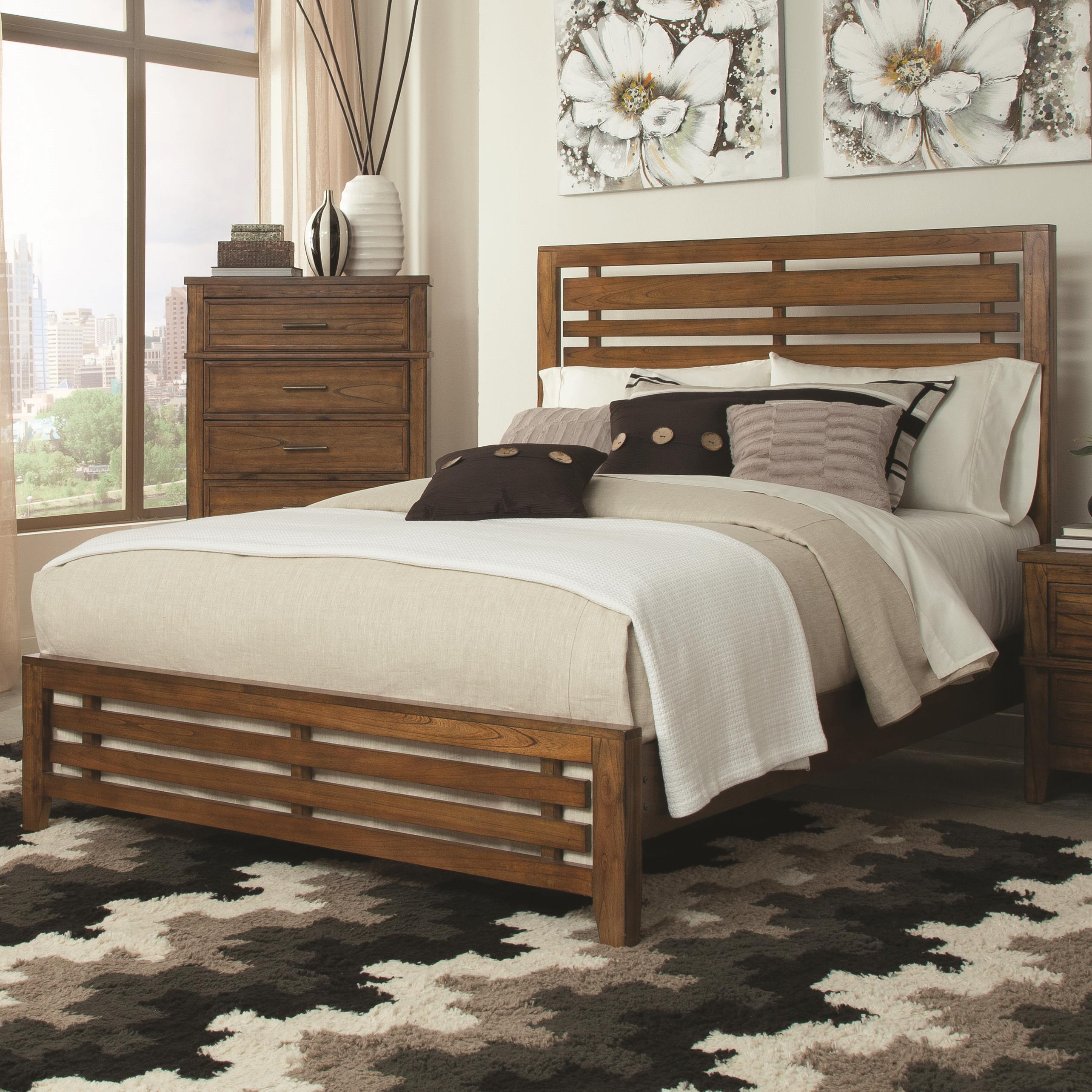Coaster Cupertino Queen Size Bed - Item Number: 204021Q