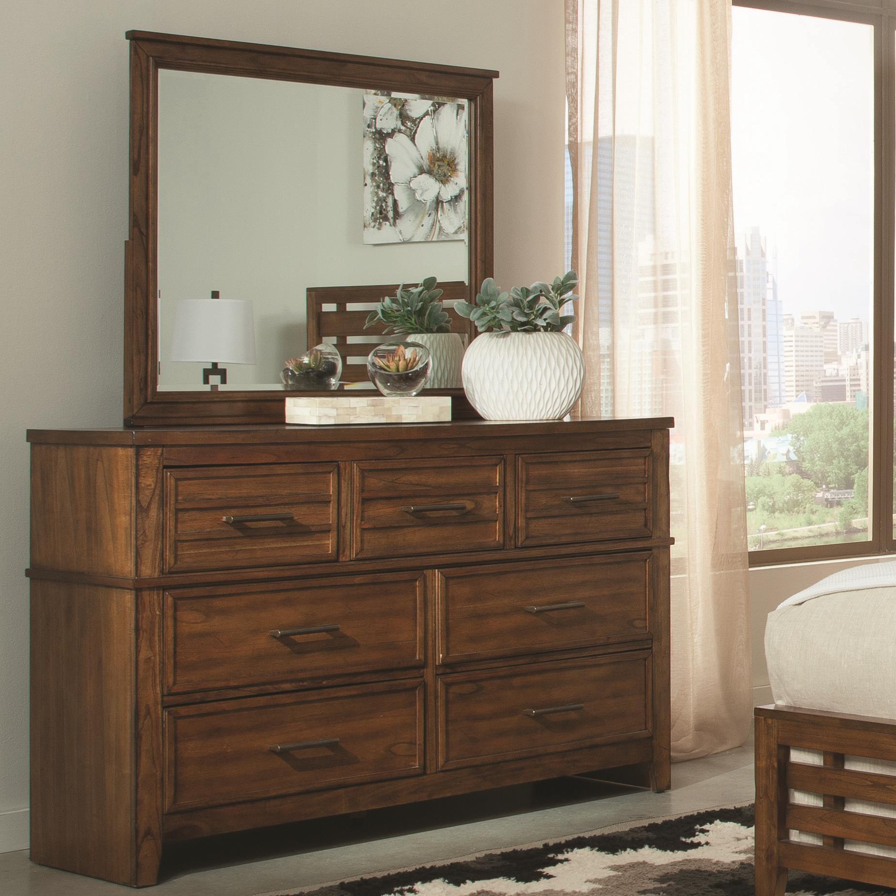 Coaster Cupertino Dresser & Mirror Set - Item Number: 204023+24