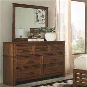 Coaster Cupertino Dresser & Mirror Set