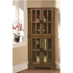 Coaster Curio Cabinets Corner Curio Cabinet