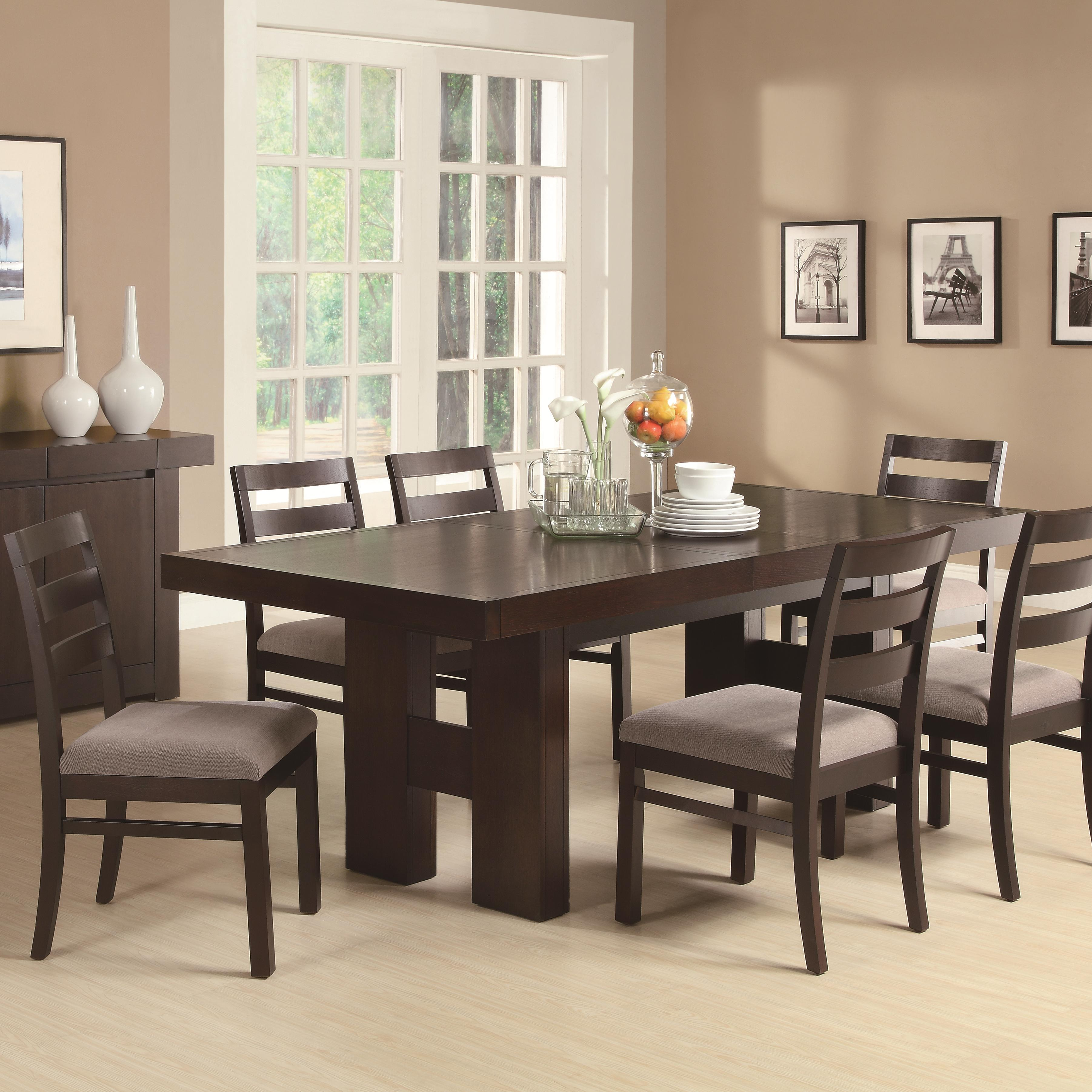 Coaster Dabny 7 Piece Dining Set - Item Number: 103101+103102x6