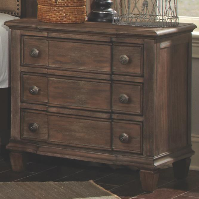 Coaster Dalgarno Nightstand with 3 Drawers - Item Number: 204242