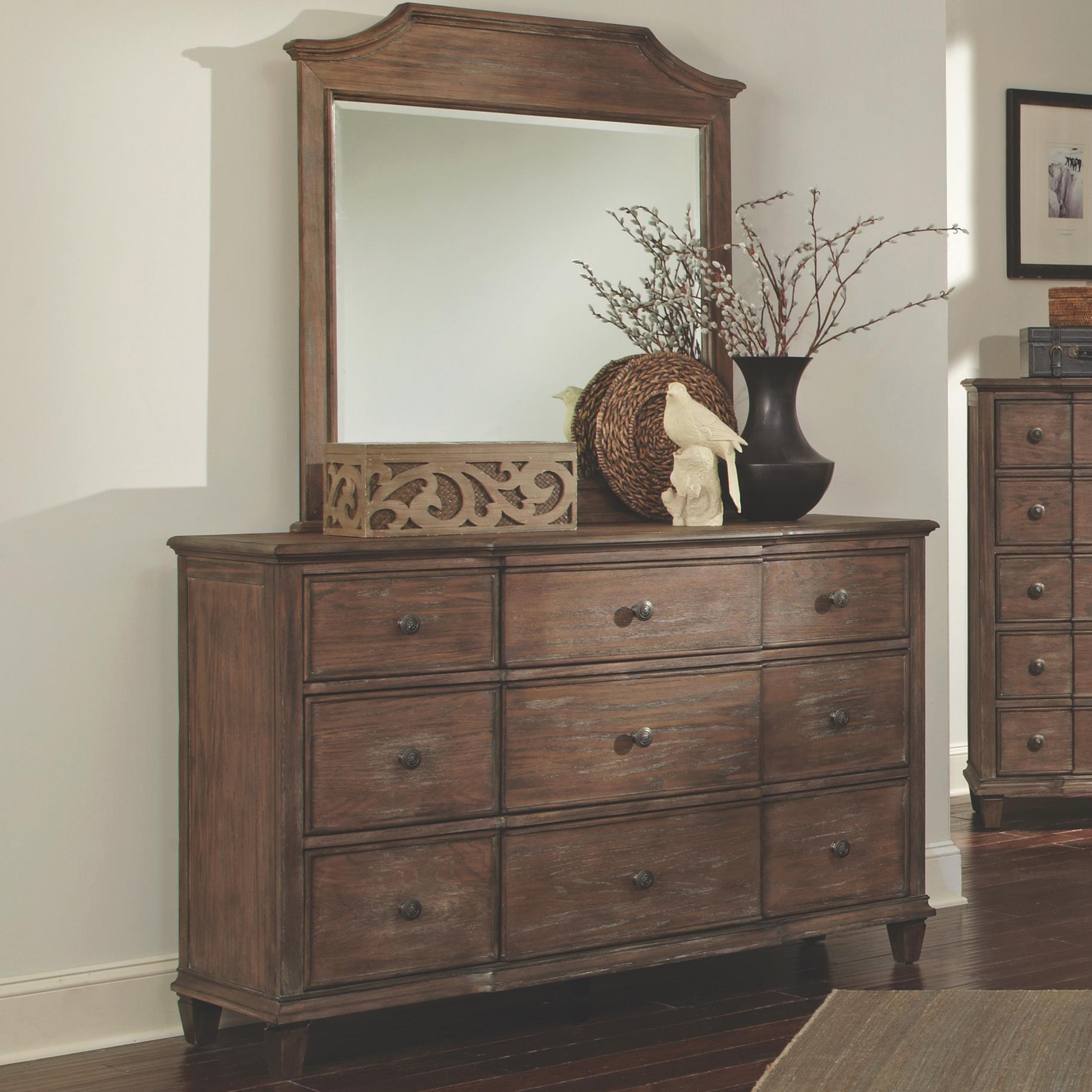 Coaster Dalgarno Dresser with 9 Drawers and Mirror Set - Item Number: 204244+204243