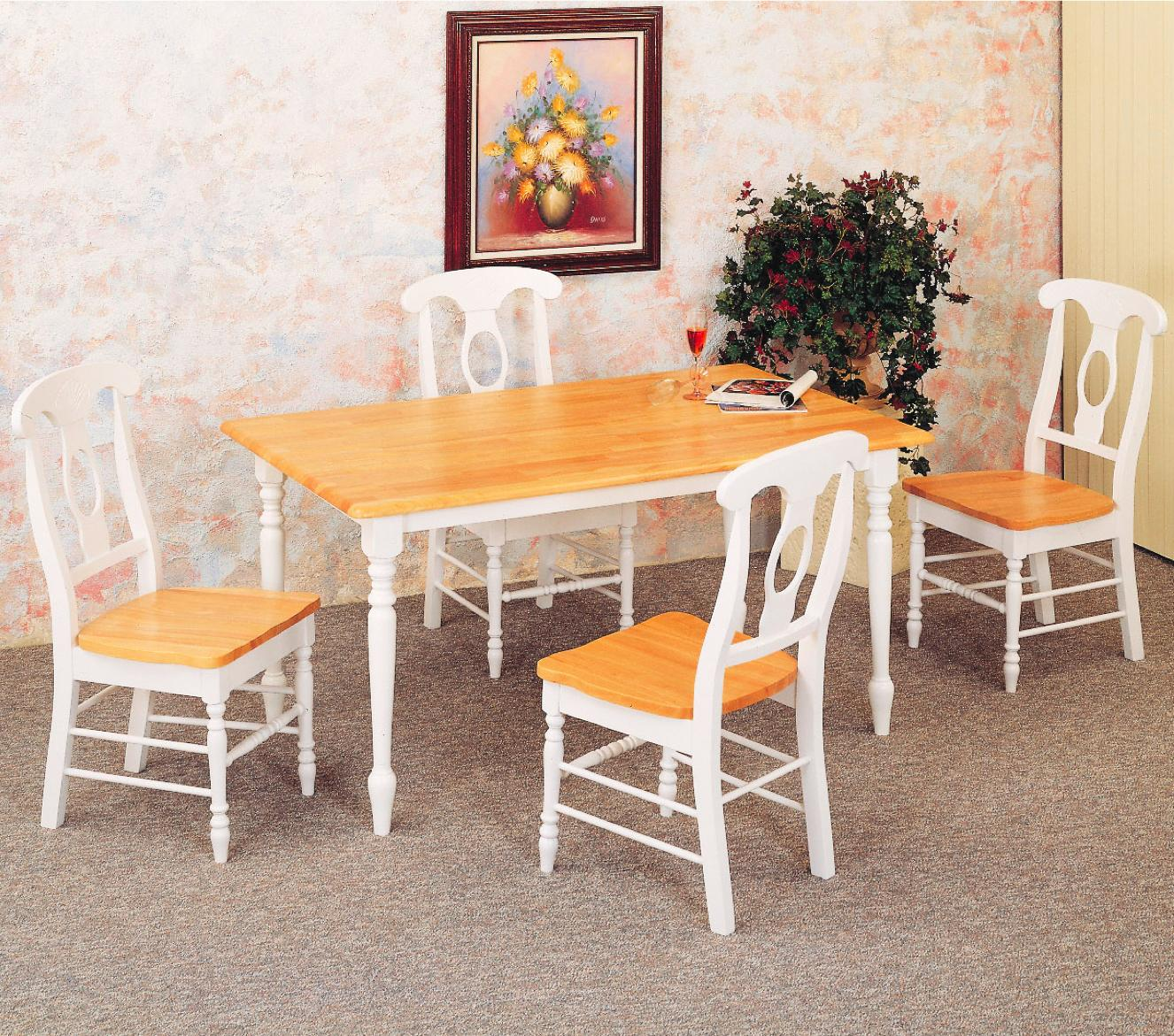 Coaster Damen 5 Piece Dining Set - Item Number: 4147+4X17