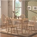 Coaster Damen 5 Piece Dining Set - Item Number: 4347+4X127