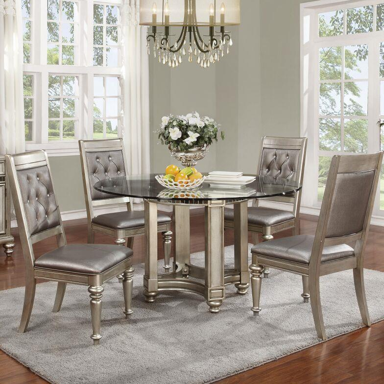 Coaster Danette 5 Piece Table & Chair Set - Item Number: 106470+CB54RD+4x106472