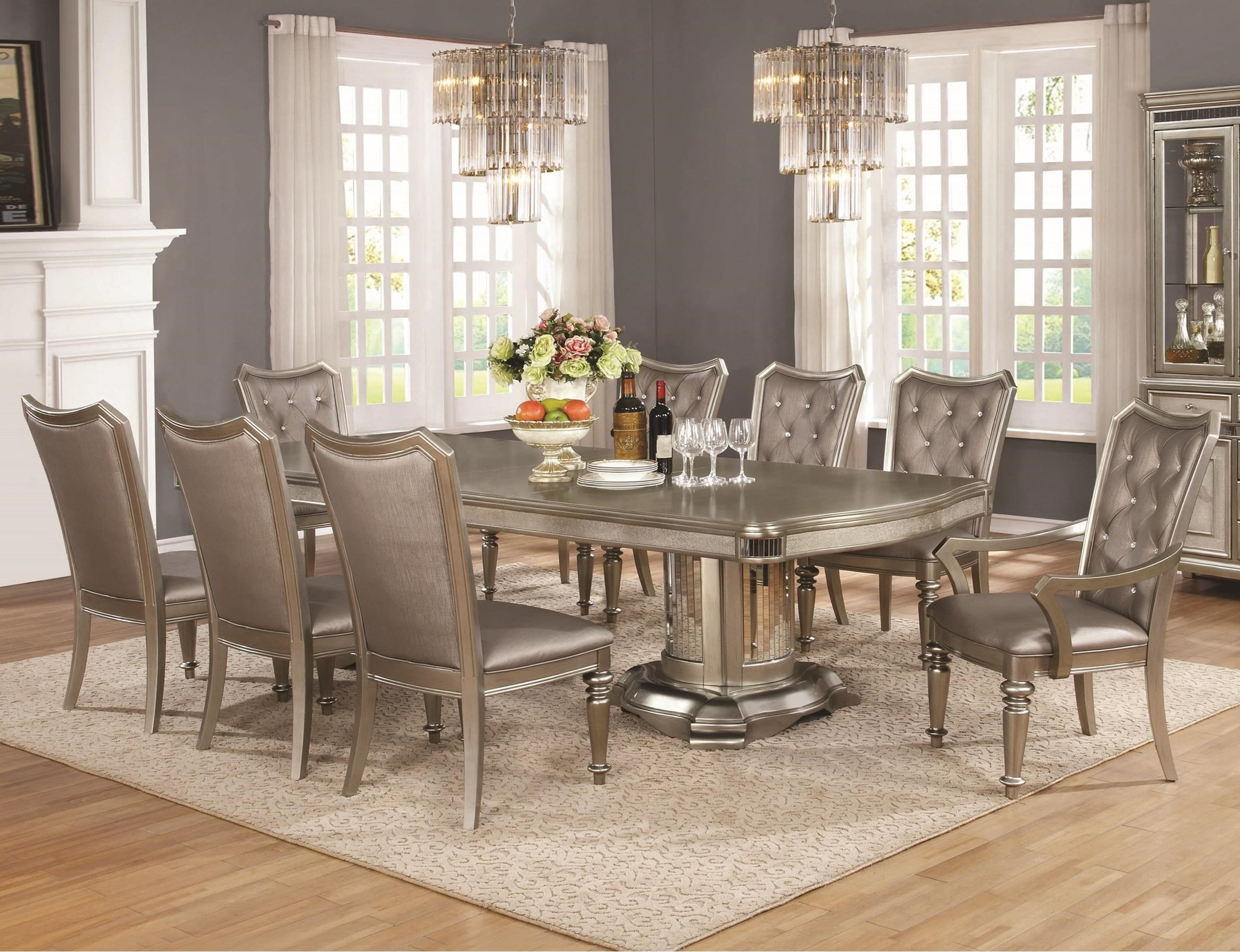 Coaster Danette - -181734809 9 Piece Table and Chair Set - Item Number: 107311+2x107313+6x107312