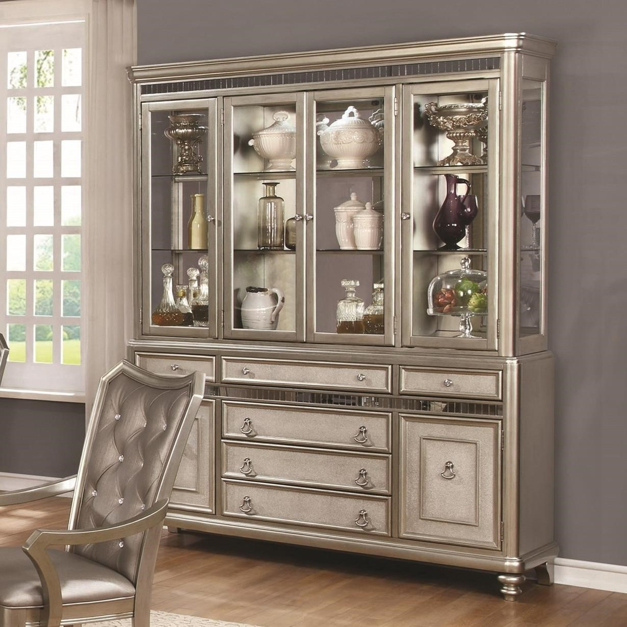 Coaster danette server and china cabinet with led