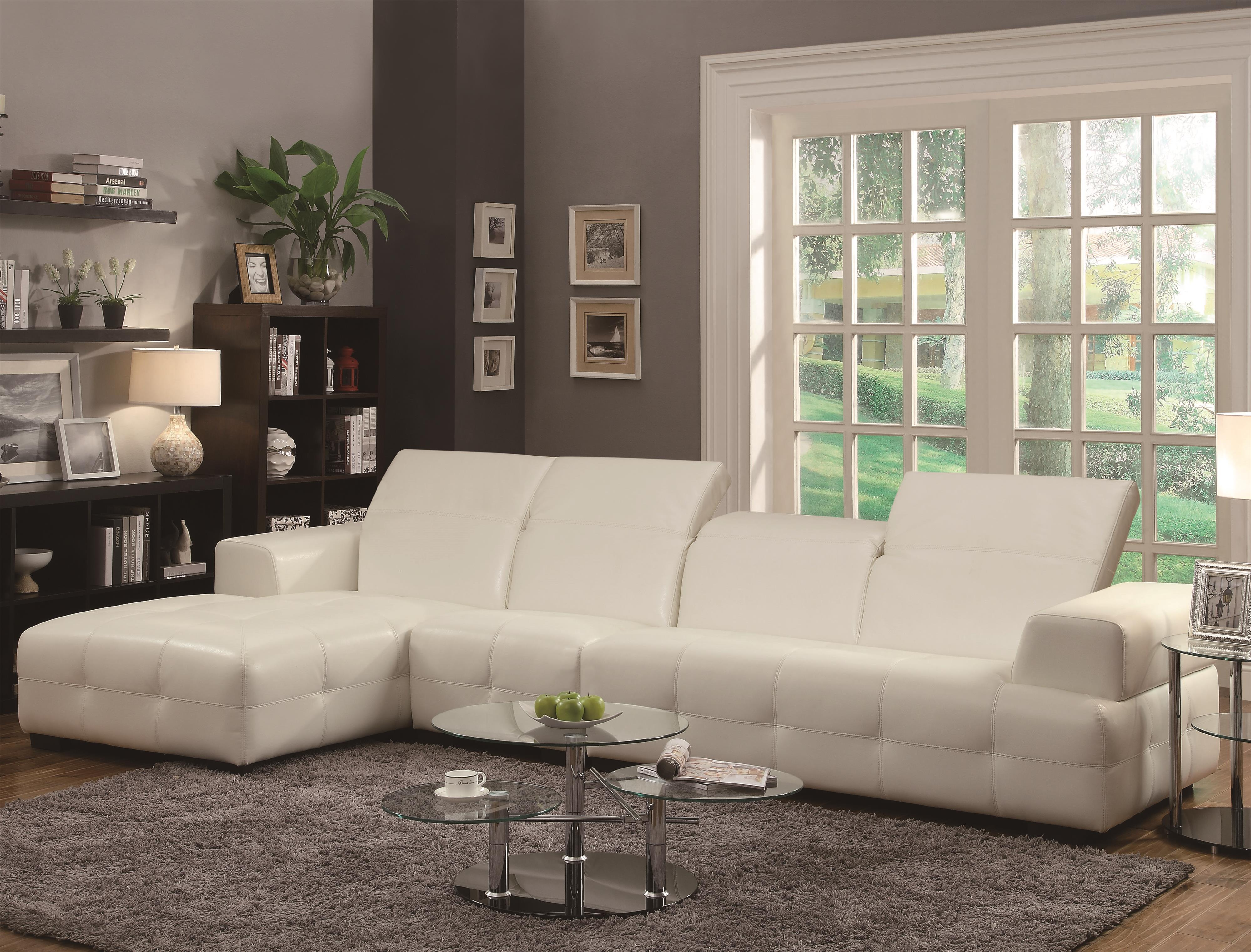 Coaster Darby Sectional Sofa - Item Number: 503617+AC