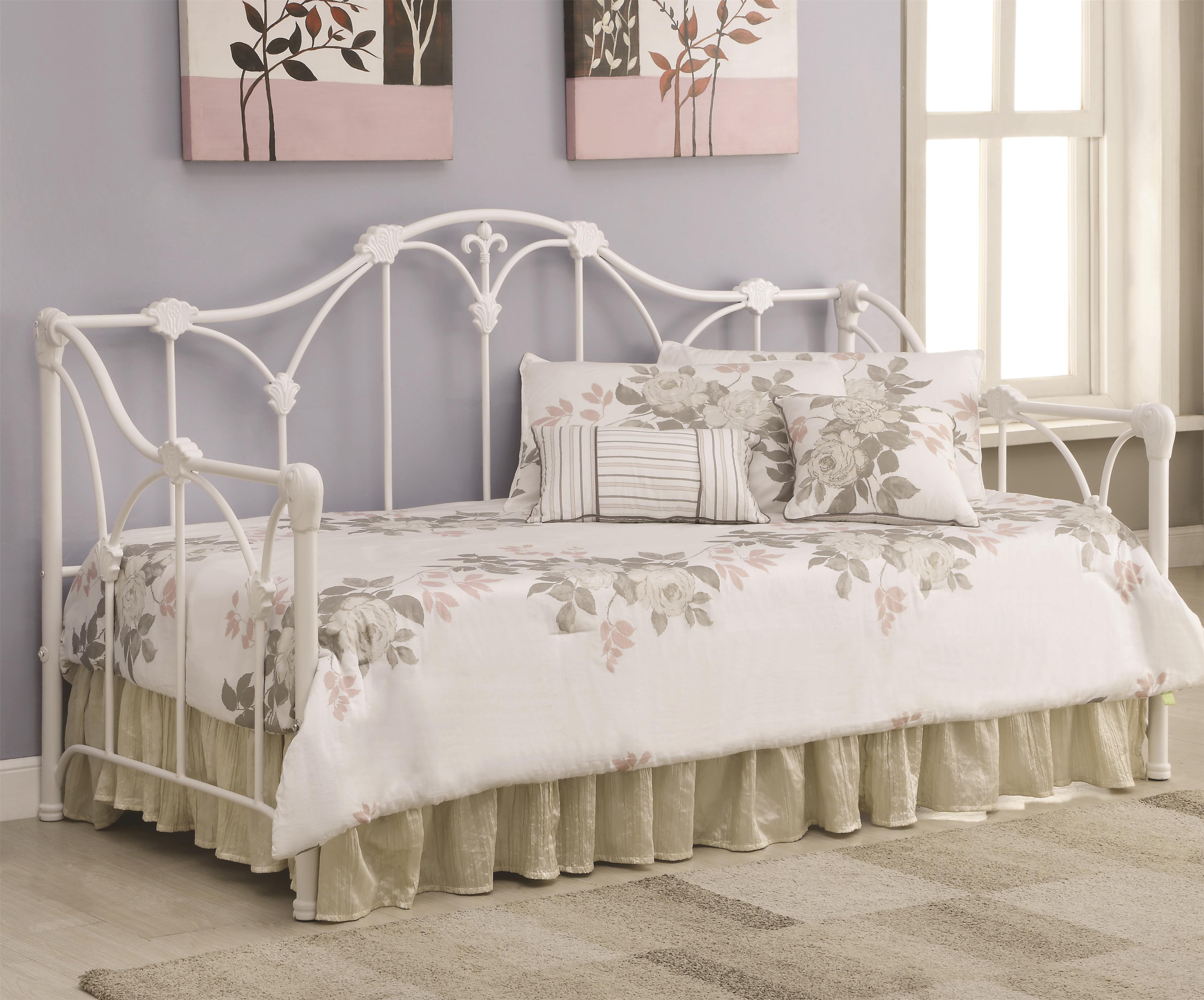 Coaster Daybeds By Coaster 300216 Daybed With Floral White