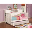 Coaster Daybeds by Coaster Wooden Daybed with Trundle and Bookcase