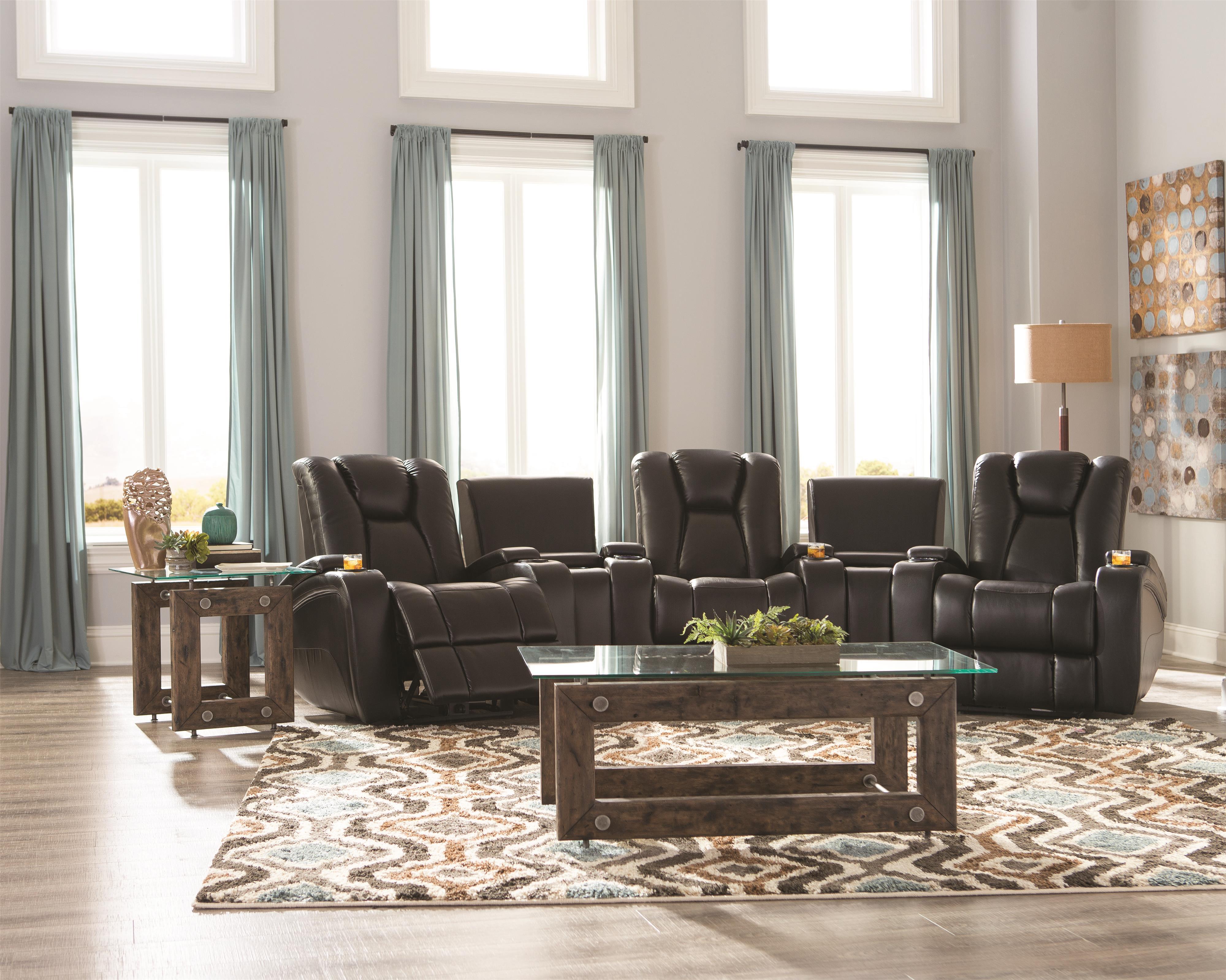 Coaster Delange Reclining Living Room Group - Item Number: 60174 Living Room Group 2