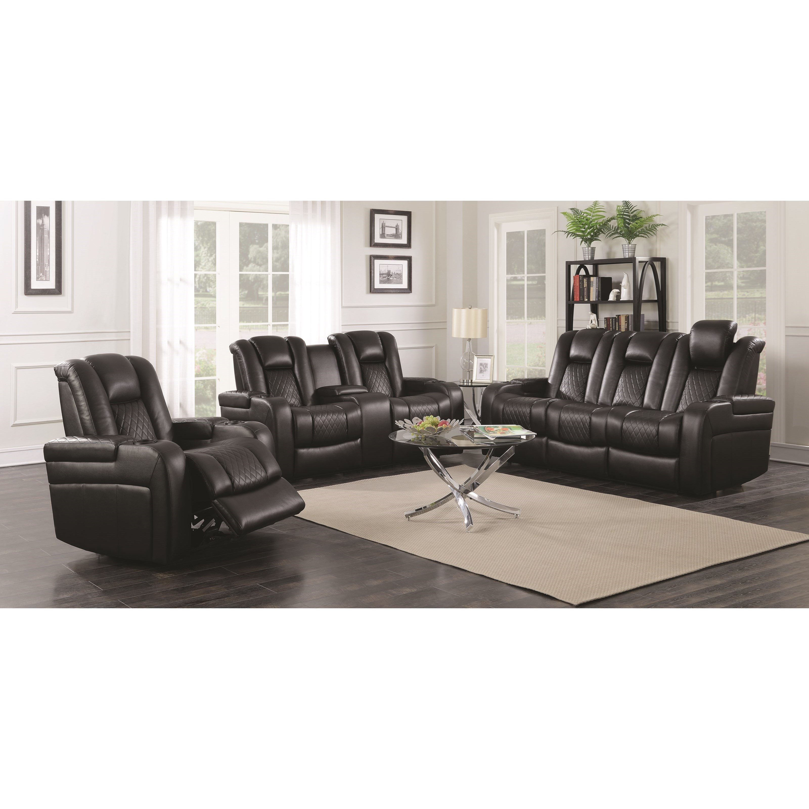 Delangelo Reclining Living Room Group by Coaster at Northeast Factory Direct