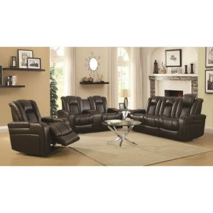 Coaster Delangelo Reclining Living Room Group