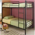 Coaster Denley Twin Bunk Bed - Item Number: 460072B