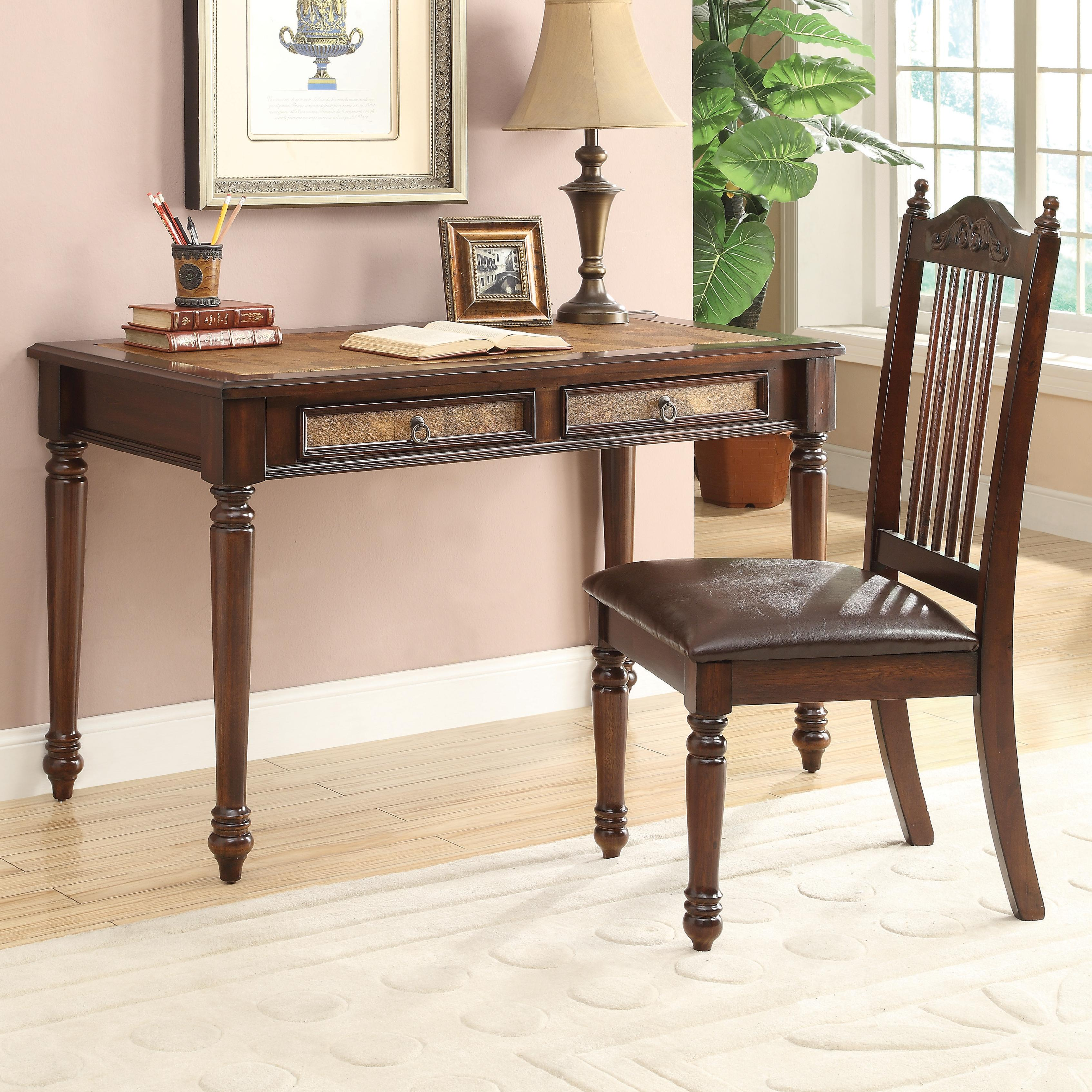 Coaster Desk U0026 Chair Set   Item Number: 800079