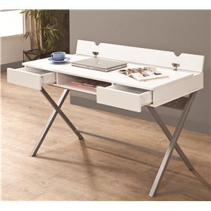 Coaster Desks Connect-It Desk (White)