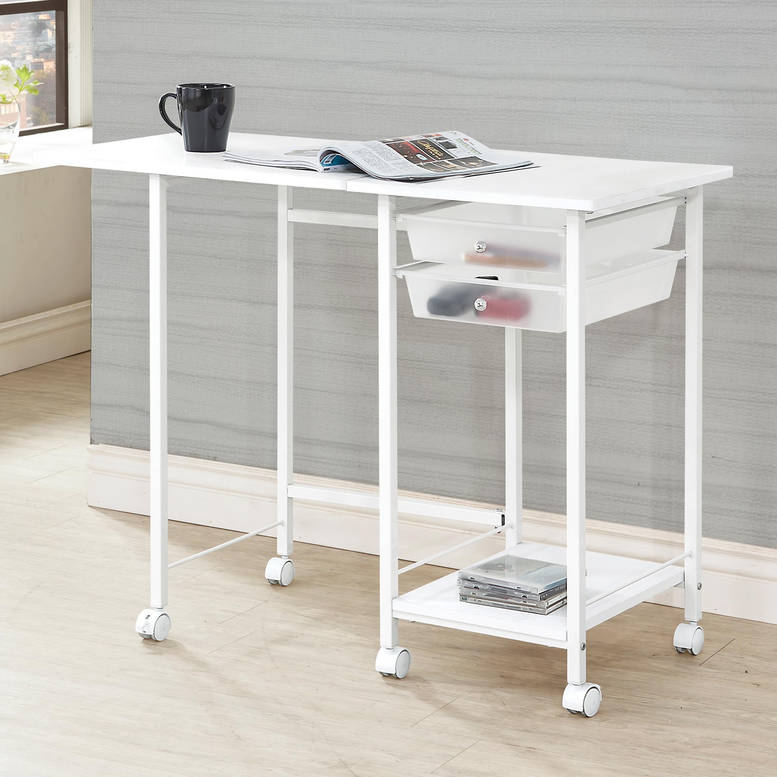 folding writing desk Buy folding office desk products like fold-out convertible desk in black, fold-out convertible desk in walnut, southern enterprises francisco desk in oak, alexander.