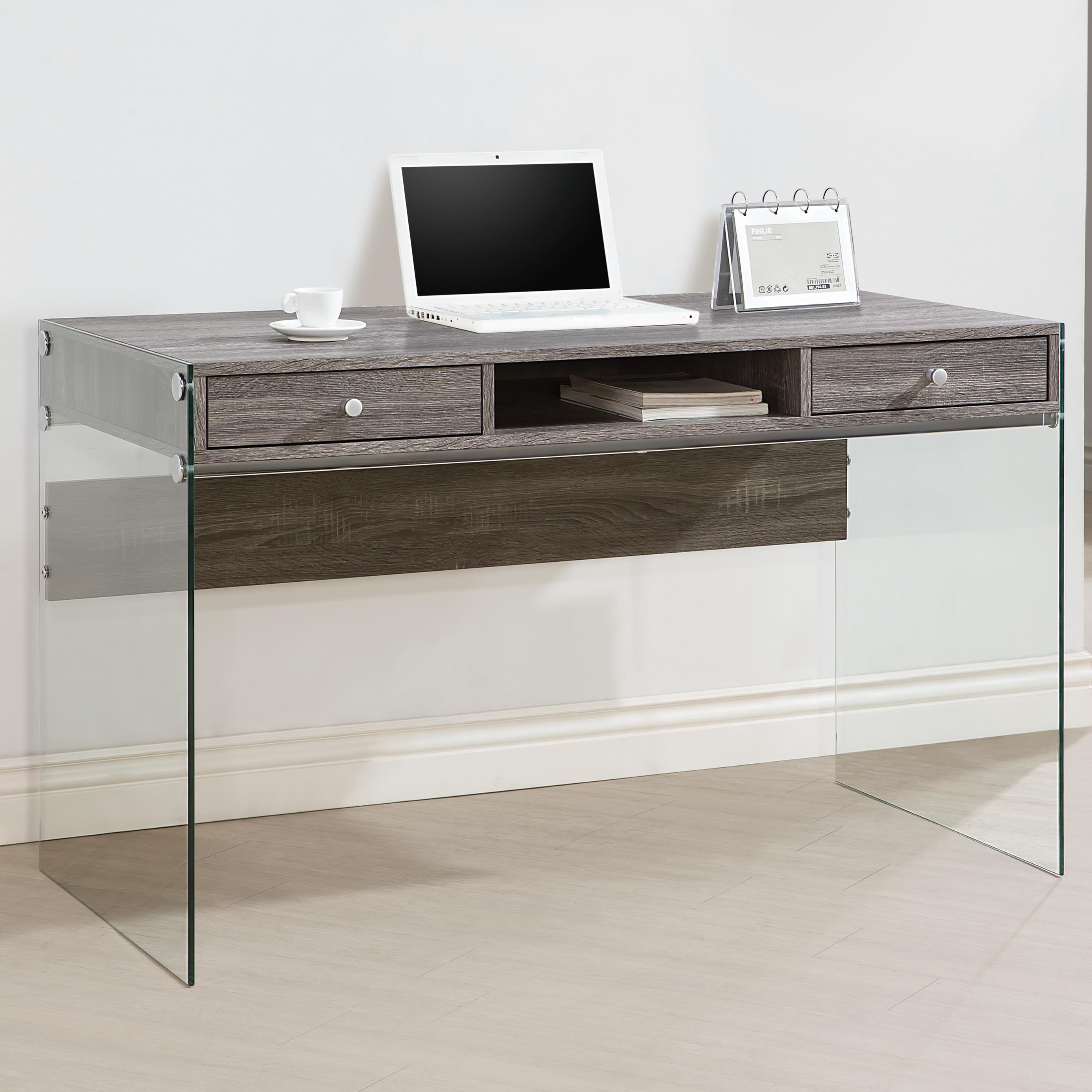 Coaster Modern Computer Desk With Glass Sides Value City